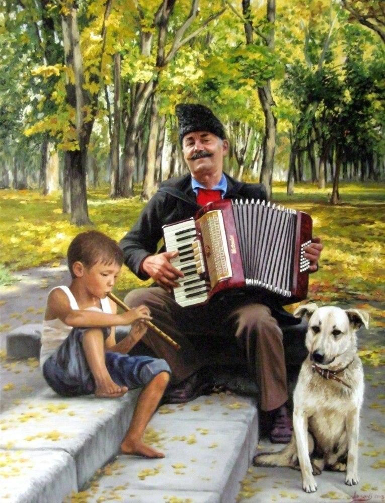 Уличные музыканты. Молдова.