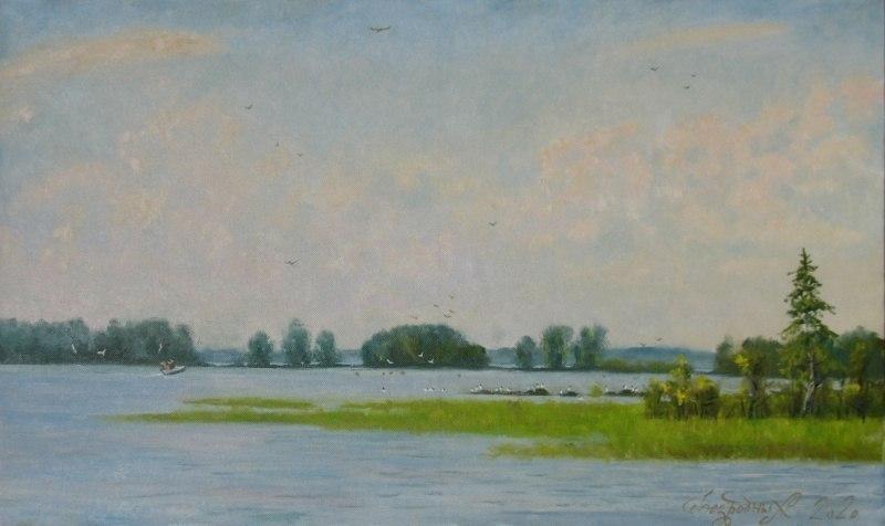 Озеро.Острова
