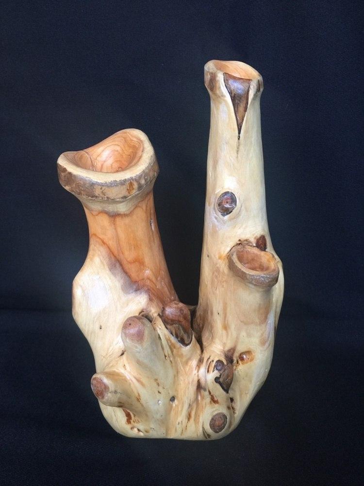 Александр Витзон.  Лесная скульптура. Ваза декоративная из тиса.