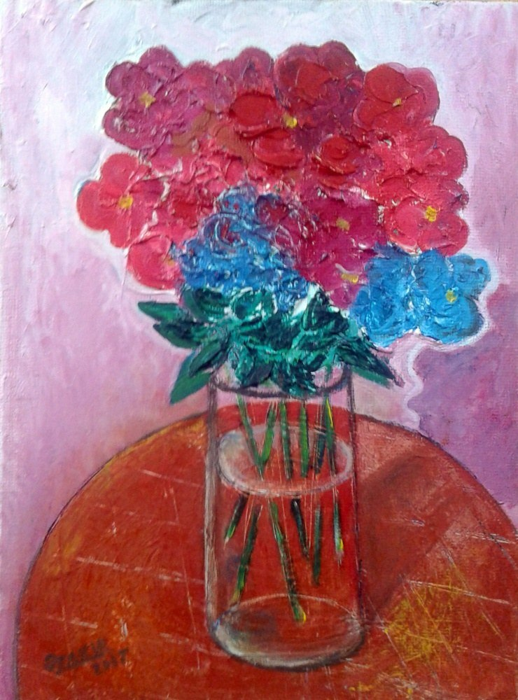 Autumn flowers2017year oil on canvas 40X30 cm1500$