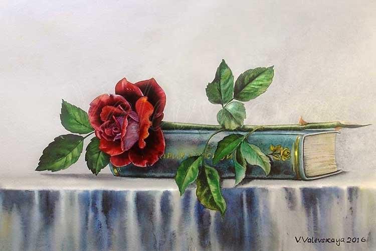 Роза и книга.