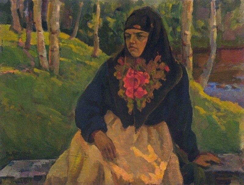 Портрет женщины в русском костюме