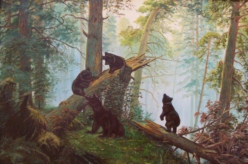 Утро в сосновом лесу копия шишкина