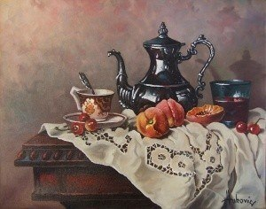 With afternoon tea ~ Реализм