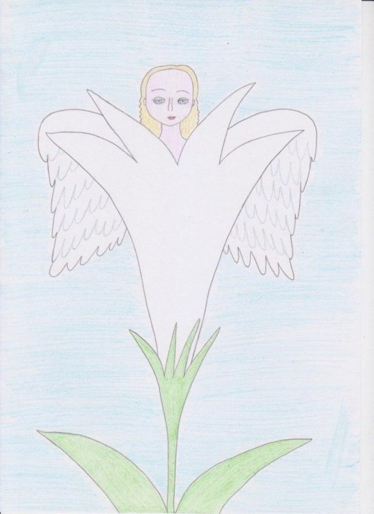 Ангел. Ангел в цветке