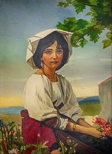 Портрет женщины в итальянском костюме