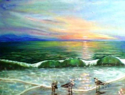 Море. Рассвет.