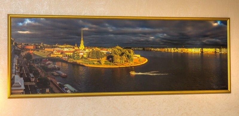 """""""Золотой остров"""" Художестенное  фото в раме. 121-43 см"""
