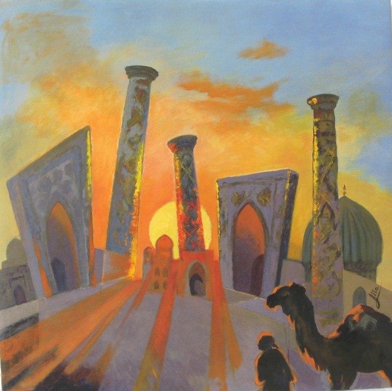 ВЕЧЕР.  Закат в Регистане
