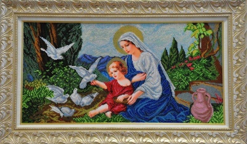 Богородица и голуби