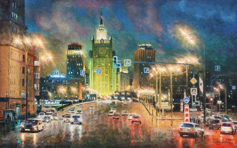 Огни ночной Москвы. МИД
