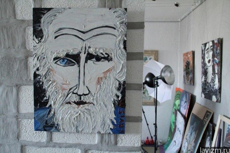 Картина Лев Толстой в мастерской художника