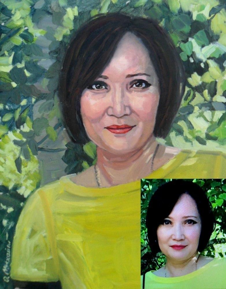 Женский Портрет маслом на холсте