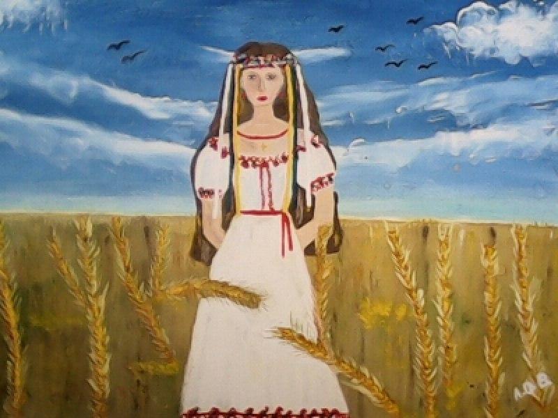 Дівчина- Україна (Девушка-Украина)