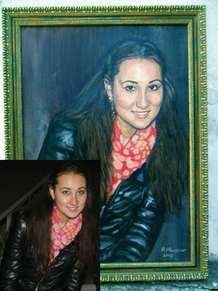 Портреты по фото в Алматы маслом на холсте ручная работа