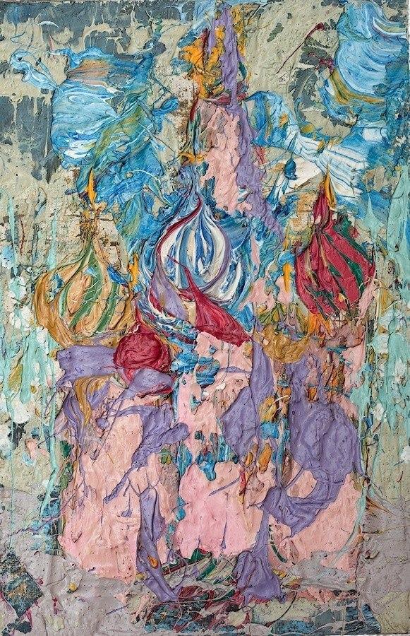 Картина Москва Кремль Храм Василия Блаженного Живопись