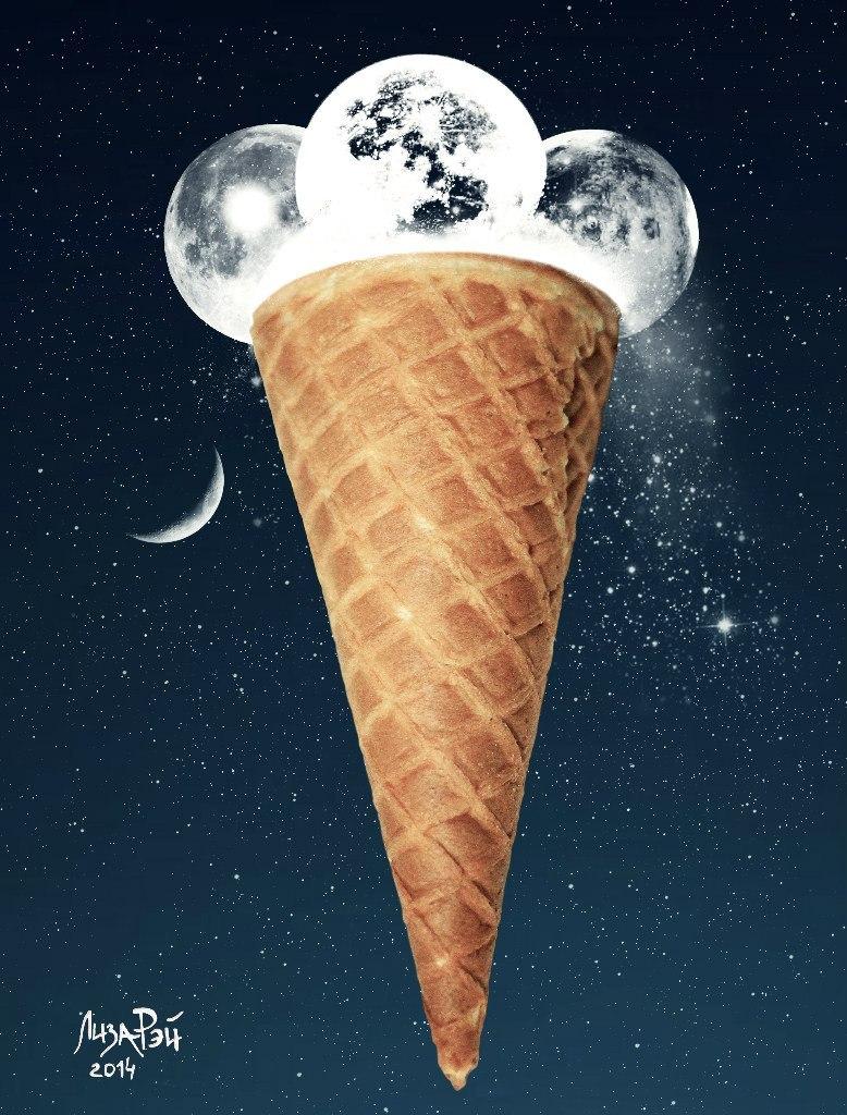 Креативное мороженое - Лунное