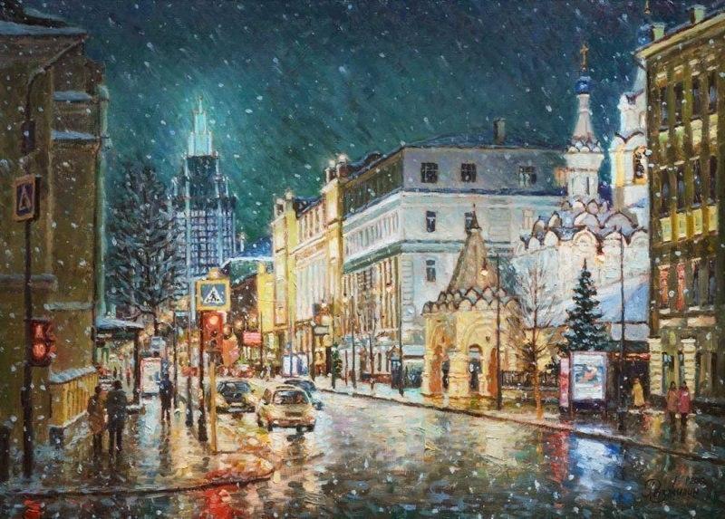 Первый снег на Малой Дмитровке
