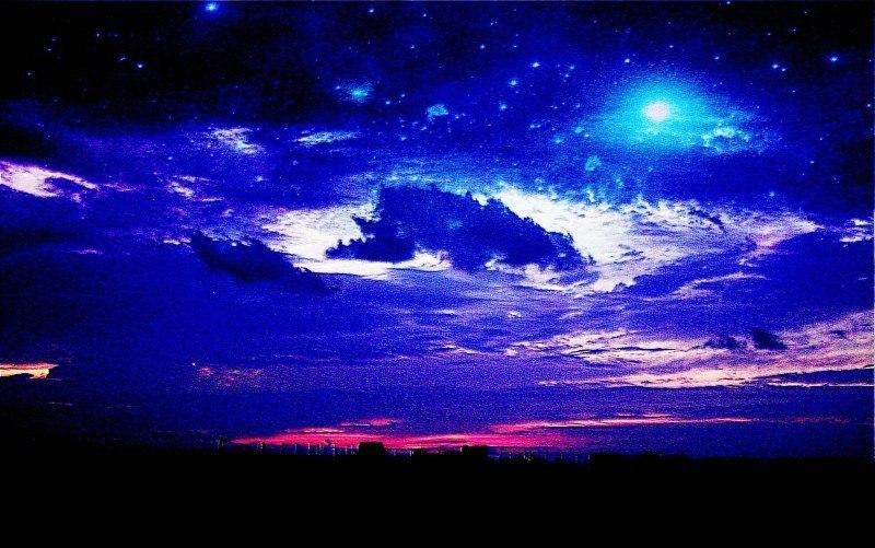 Космос, небо и земля