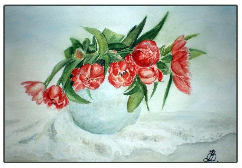 Тюльпаны на кружеве