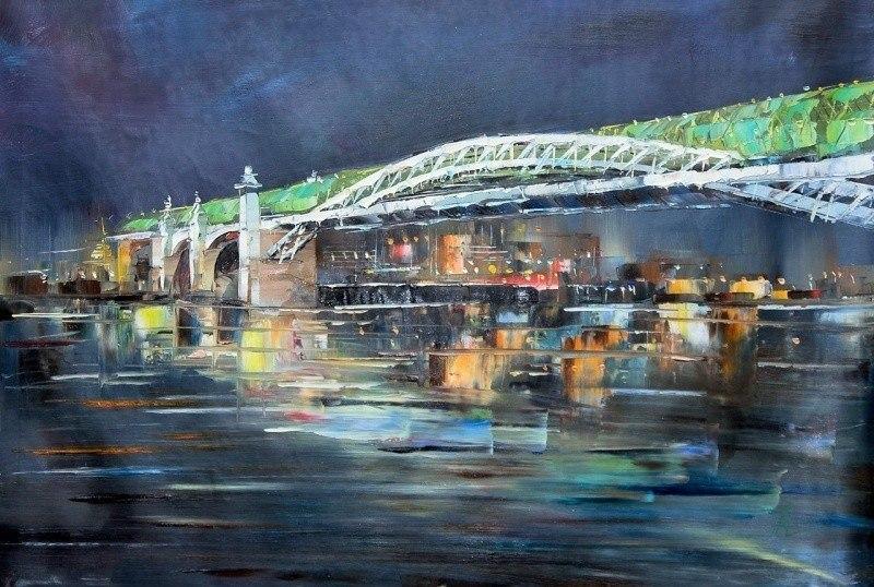 Огни Москвы. Андреевский мост