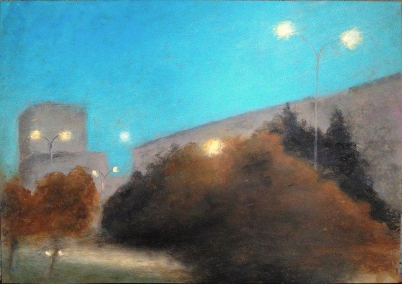 луна и фонари