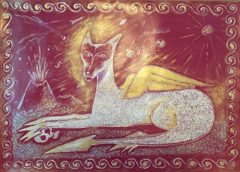 Королева-защитница с золотыми крыльями