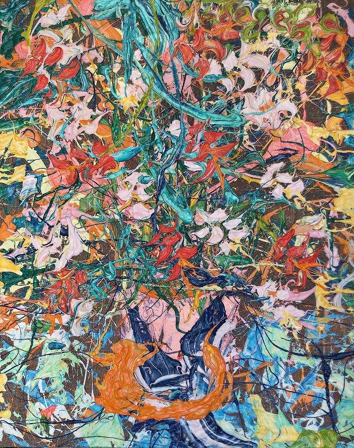 STILL LIFE PAINTING FLOWERS КАРТИНА НАТЮРМОРТ ЕКАТЕРИНА ЛЕБЕ