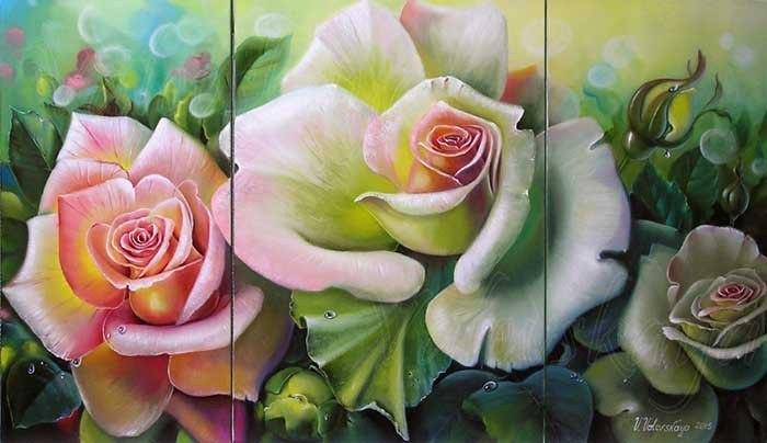 Розы  (триптих)