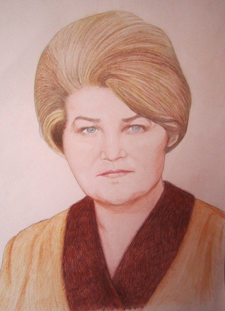 Портрет любимой бабушки Маши