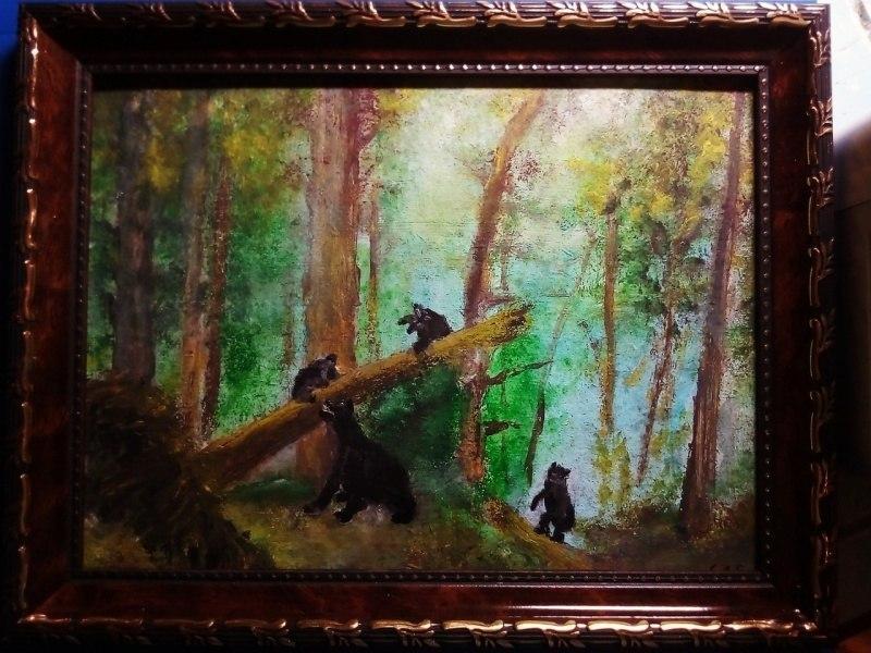 Утро в сосновом бору вольная копия картины И.И.Шишкина
