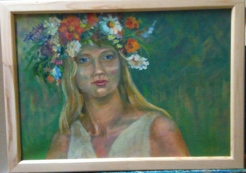 Портрет девушки с венком