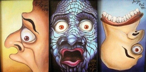 Кричащая женщина (триптих)