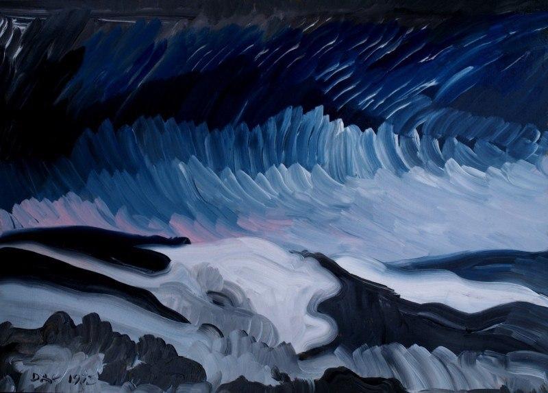 Winter landscape (Series - Seascapes. North Sea).