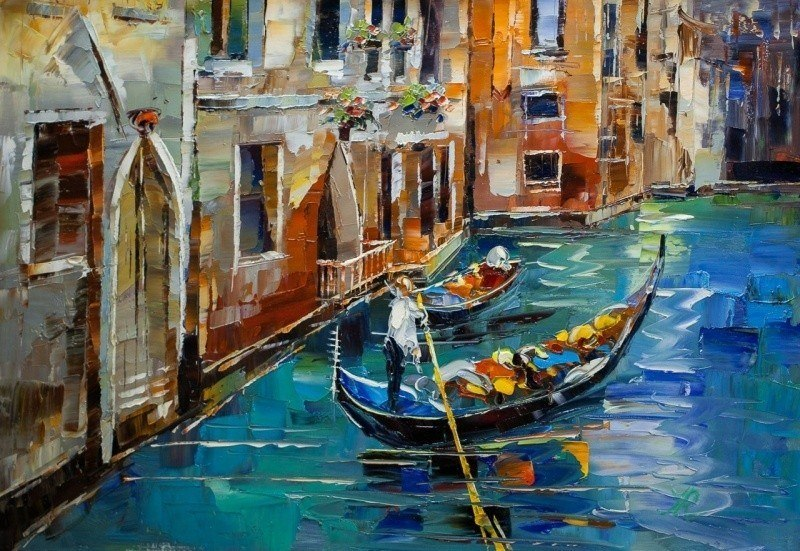 Каналы Венеции. Гондольер N2