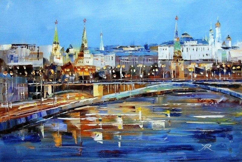 Вид на Кремль через Большой Каменный мост N2