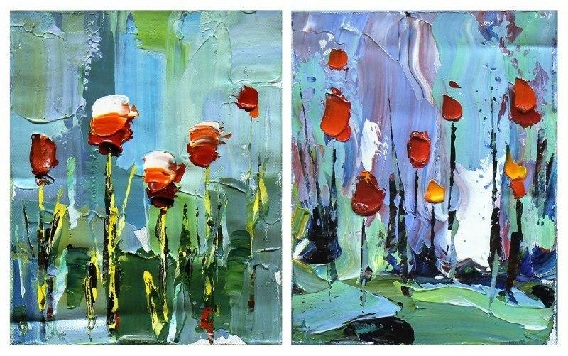 Диптих. Тюльпаны
