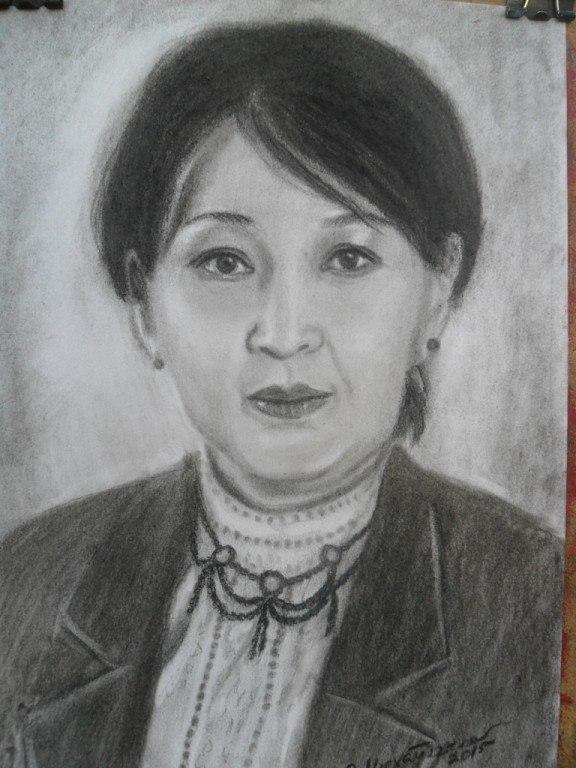 рисованный портрет по фото