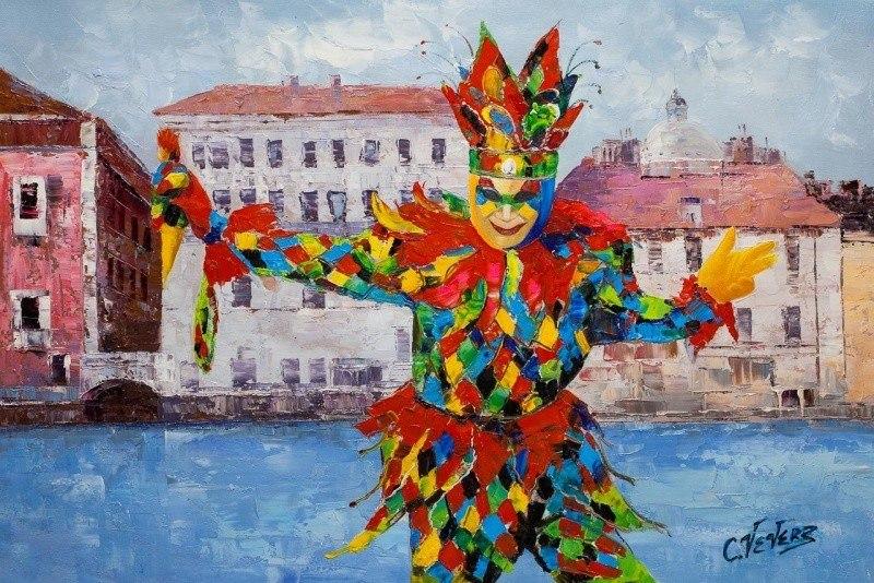 Венеция. Маски веницианского карнавала N1