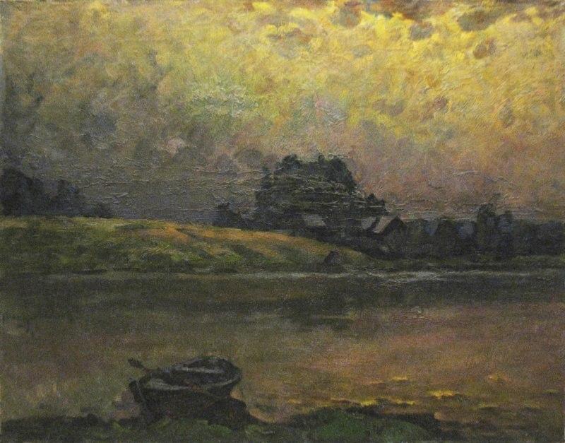 На реке после дождя
