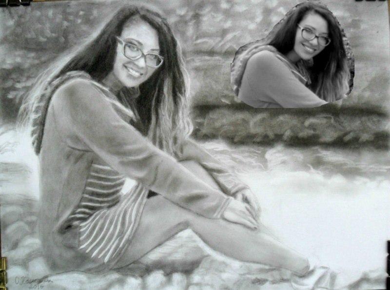 Женский портрет по фото карашдашом
