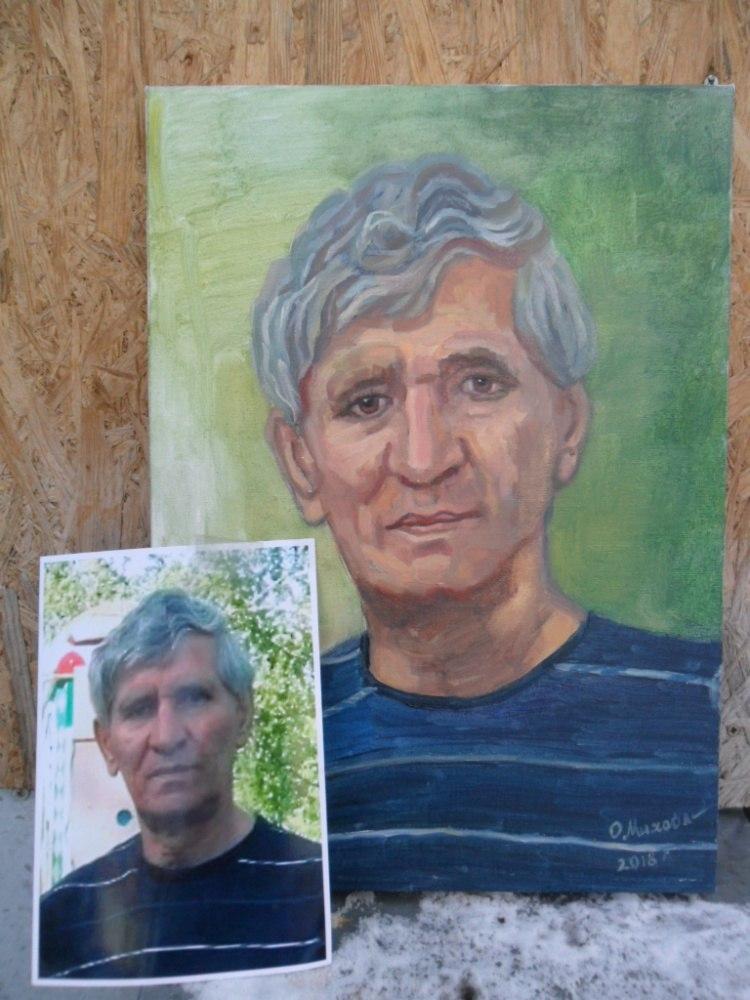 Мужской портрет по фото маслом