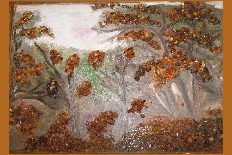 Янтарный лес