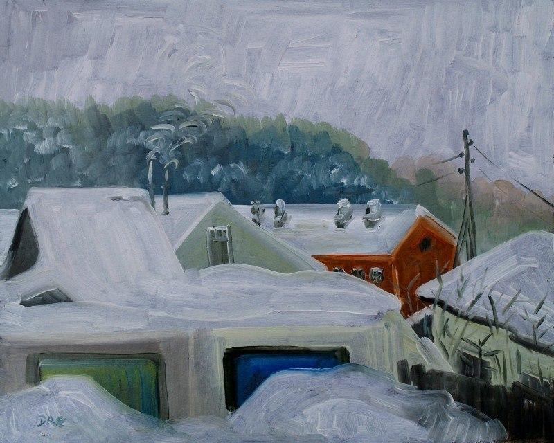 Снежная зима.