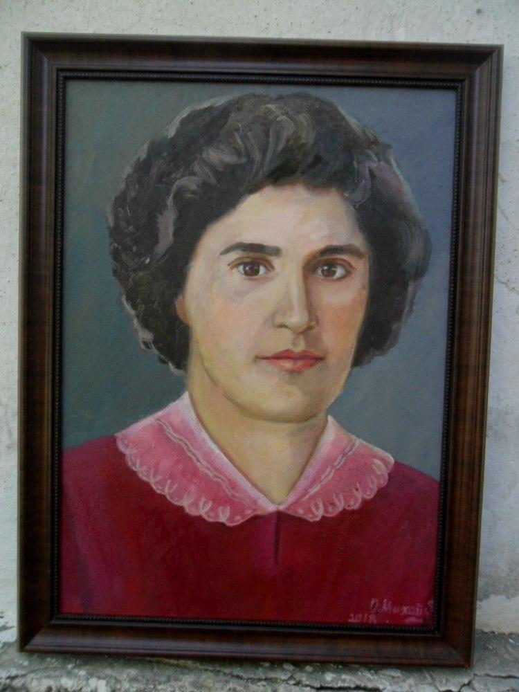 Женский портрет по фото в Алматы живопись ручной работы
