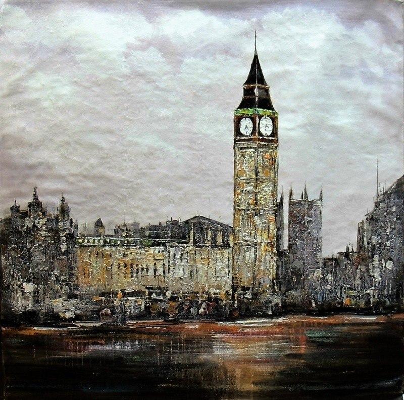 Лондон. Вестминстерский дворец с Темзы