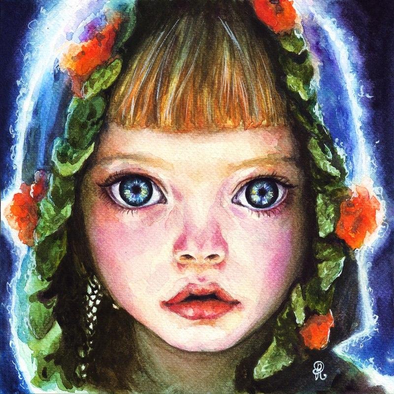 Девочка с большими глазами