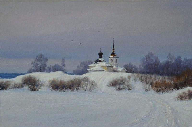 Городище зимой