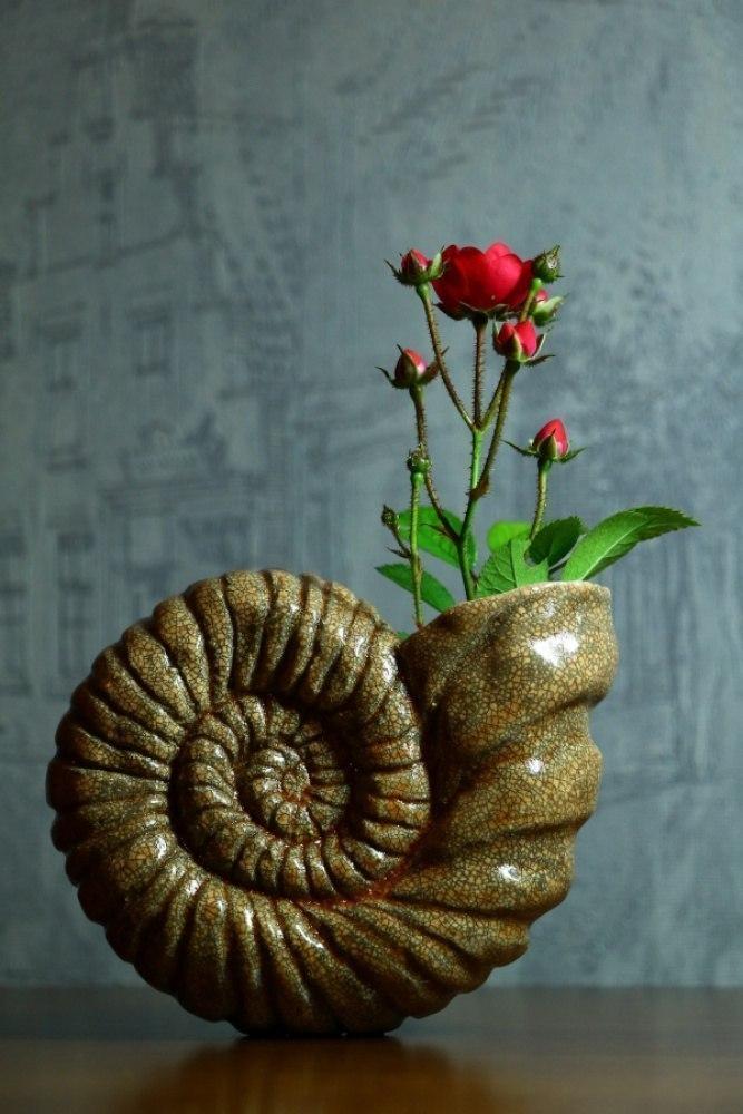Аммонит-ваза.