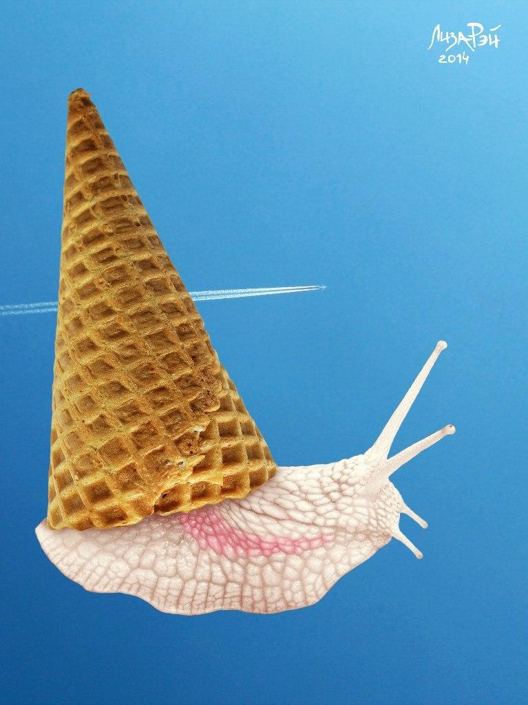 Креативное мороженое - Улитка